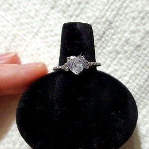 NWOT Silver Ring with Swarovski Crystals